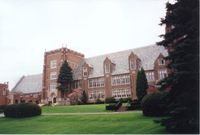 Old Main (front facade, ca. 2003), Mercyhurst College-medium